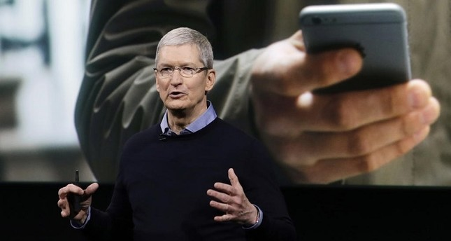 Apple CEO Tim Cook speaks at an event to announce new products at Apple headquarters in Cupertino, Calif.