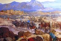 Das Diorama der Schlacht von Manzikert im Militärmuseum von Istanbul.