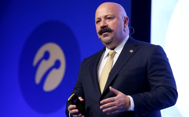 Former Turkcell CEO Kaan Terzioğlu speaks at a press conference to evaluate the 2018 financial and operational results for the cellphone operator, in Istanbul, Feb. 25, 2019. (AA Photo)