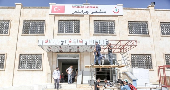 The hospital in Jarablus that Turkey built after the town was liberated in Operation Euphrates Shield.
