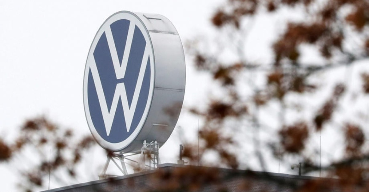A logo of German car maker Volkswagen (VW) on top of the main administration building of the Volkswagen plant in Wolfsburg, Germany, 06 October 2019. (EPA Photo)