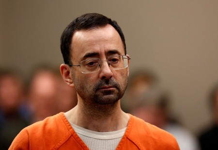 Former Michigan State University and USA Gymnastics doctor Larry Nassar appears at Ingham County Circuit Court on November 22, 2017 in Lansing, Michigan. (AFP Photo)