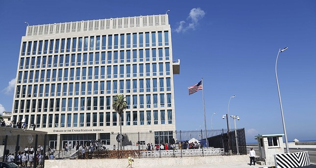 In this photo taken Aug. 14, 2015, a U.S. flag flies at the U.S. embassy in Havana, Cuba. (AP Photo)
