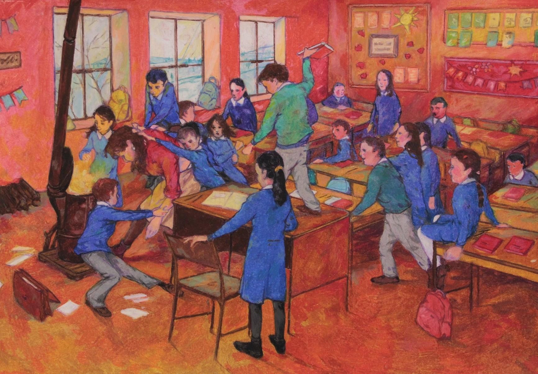 Gu00f6khun Baltacu0131, u201cUnnamed,u201d 2017 Crayon on paper, 70x100cm.