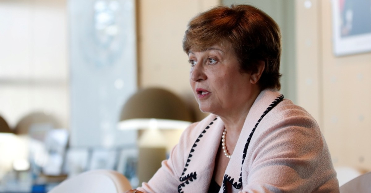 Kristalina Georgieva, World Bank CEO and European candidate to become the new head of the IMF, attend a meeting with French Finance Minister Bruno Le Maire (not seen) at the Bercy Finance Ministry in Paris, France, Aug. 23, 2019. (Reuters Photo)