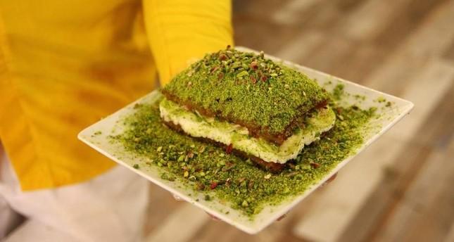 Süzerer's multi-layered pillow dessert combines traditional Turkish flavors with indulgent textures. AA Photo