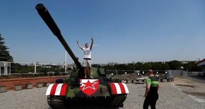 Red Star Belgrade fans park tank near stadium, spark uproar in Croatia
