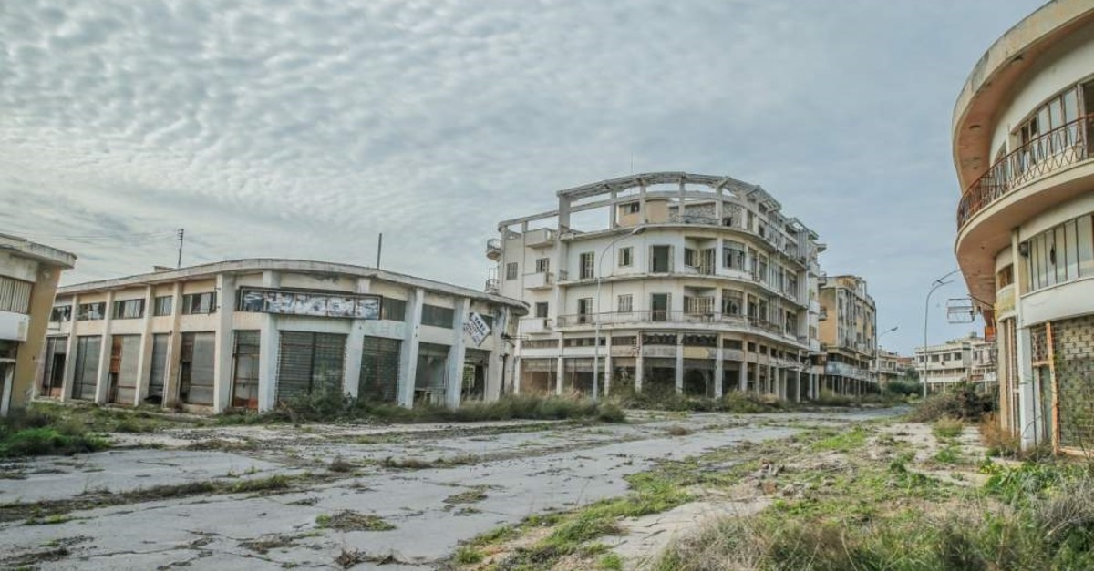 The abandoned coastal town of Mara? in the TRNC. (AA Photo)