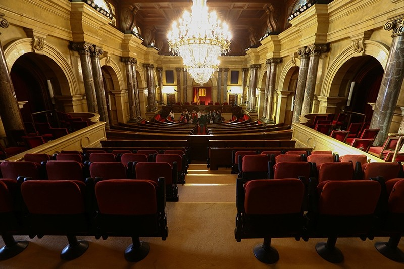 The chamber of the Catalan Parliament is seen in Barcelona, Spain, Oct. 23, 2017. (Reuters Photo)