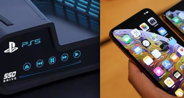 A concept render for PS5 L and iPhone 11