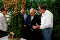 Prime Minister Binali Yıldırım was honored with the naming of a new species of an orchid after him during his visit to Singapore on Monday .