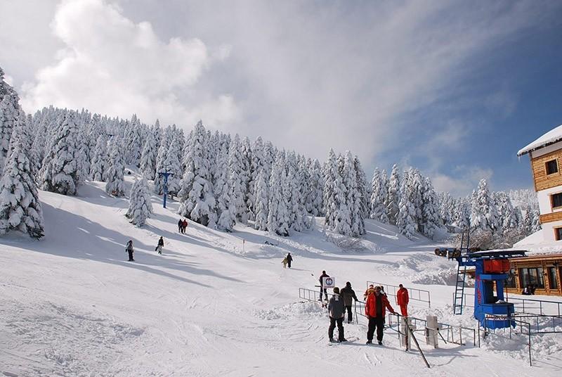 A view of a ski resort in Kartalkaya, Bolu, northerwestern Turkey. (File Photo)
