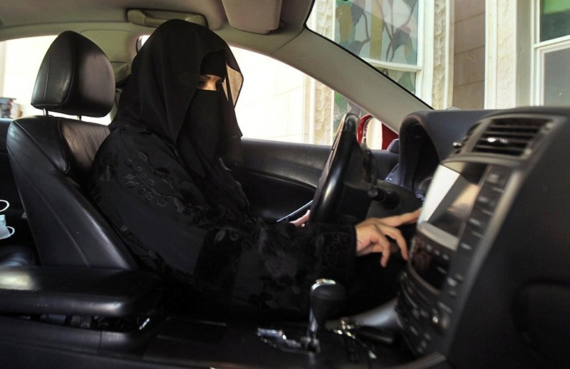 A woman drives a car in Saudi Arabia October 22, 2013 (Reuters File Photo)