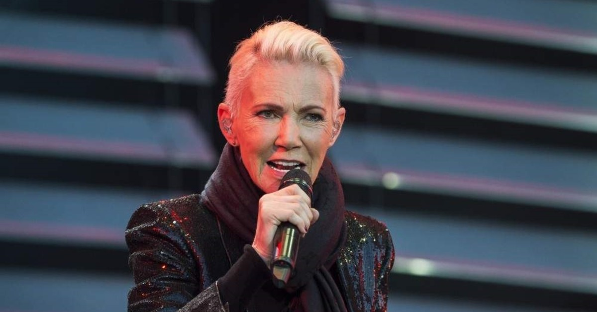 Marie Fredriksson sings during a concert at Fredriksskans in Kalmar, Sweden, 18 July 2015. (EPA Photo)