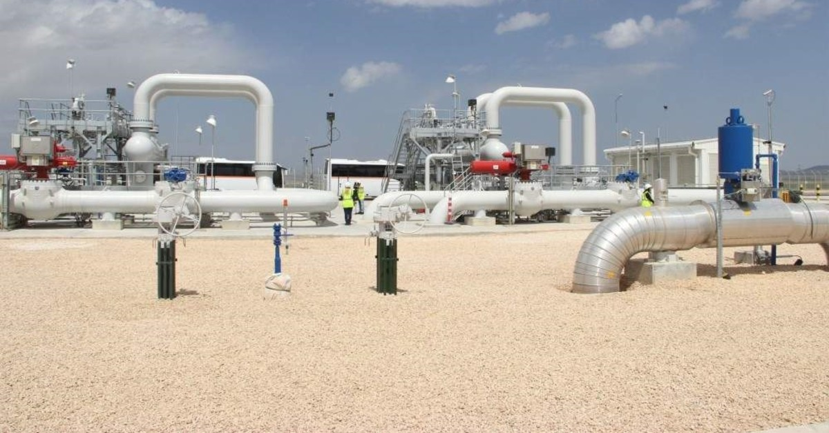 Gas valves in the Eskiu015fehir section of the Trans-Anatolian Natural Gas Pipeline (TANAP) project. (?HA Photo).