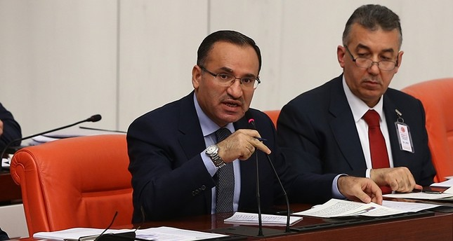 Deputy PM Bekir Bozdağ (Left) speaks during a General Assembly Session at the Grand National Assembly of Turkey (TBMM) on Feb. 14, 2018 (AA Photo)