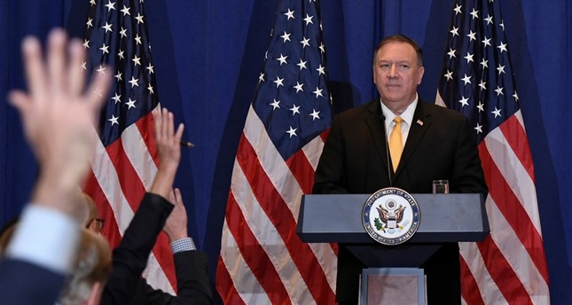 U.S. Secretary of State Mike Pompeo takes questions during a press conference at the Palace Hotel on the sidelines of the 74th session of the United Nations General Assembly in New York City, New York, U.S., Sept. 26, 2019. (Reuters Photo)
