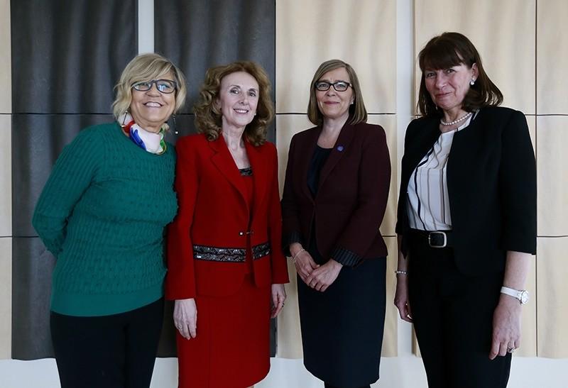 From L-R: Anna Turenicova, Paula Leal Da Silva , Marin Mottus and Paivi Kairamo. (AA Photo)