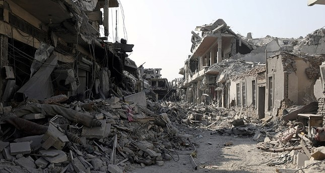 A view of a damaged site is seen in Raqqa, Syria September 16, 2017. (Reuters Photo)