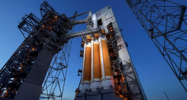 United Launch Alliance Delta IV Heavy rocket with the Parker Solar Probe onboard, at Launch Complex 37 at Cape Canaveral Air Force Station in Florida, USA, 11 August 2018. (Nasa via AFP Photo)