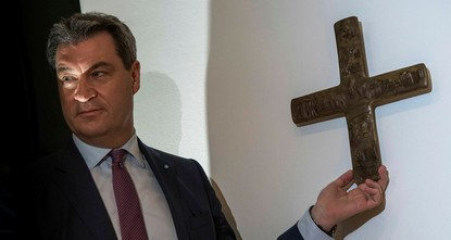 Germany's Bavaria won't check offices for Christian crosses amid new law
