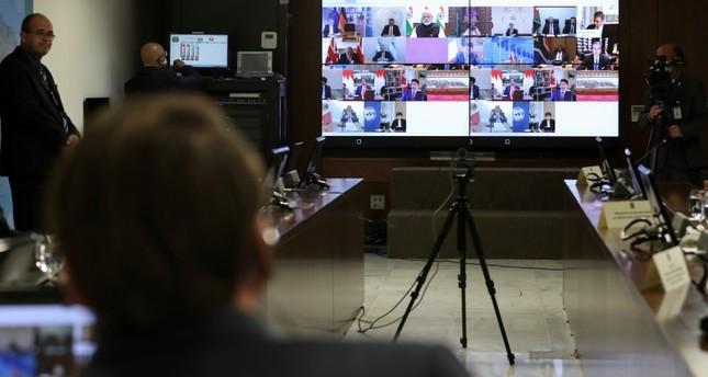 قادة مجموعة العشرين يتعهدون باستجابة قوية ومنسقة لتداعيات كورونا