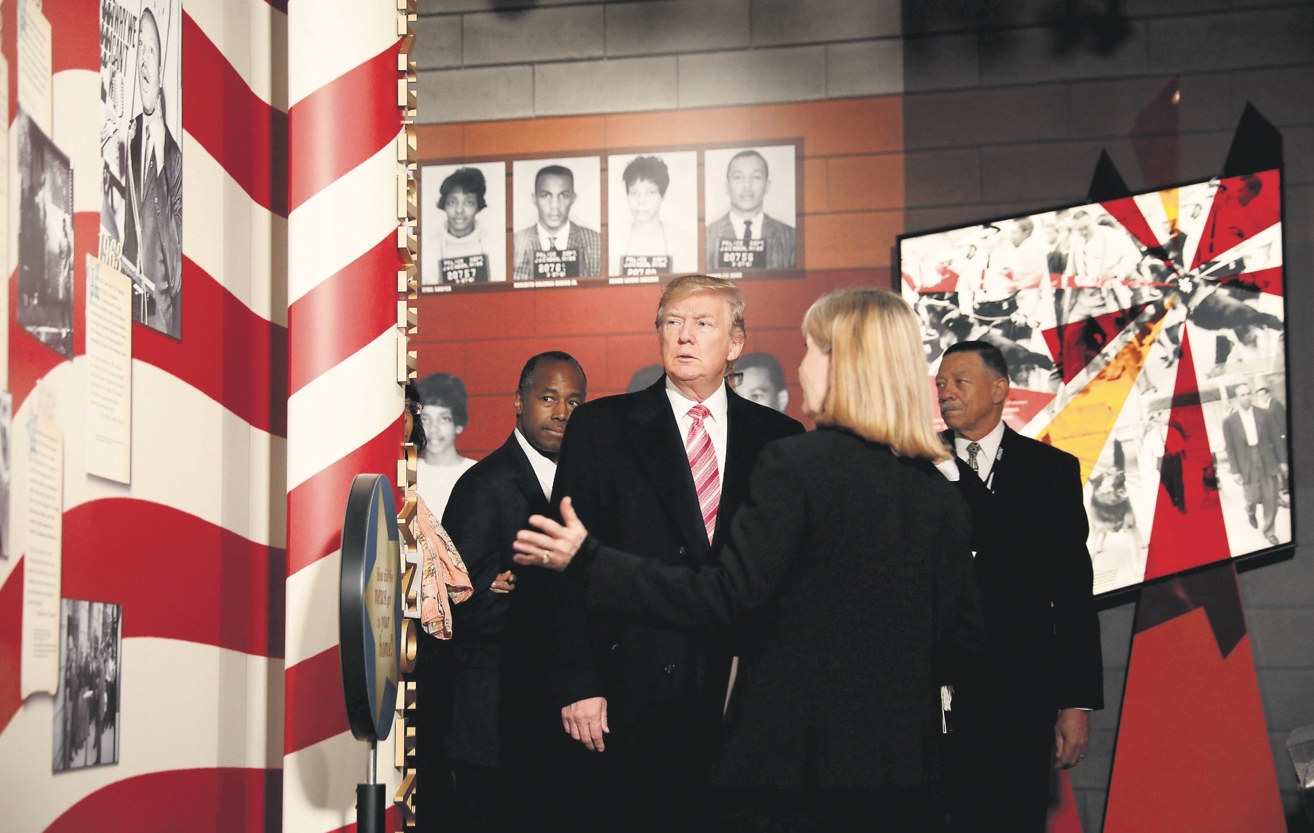 President Trump visits the Civil Rights Museum in Jackson, Mississippi, Dec. 9.