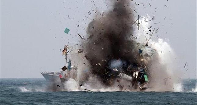 مصرع 32 لاجئاً صومالياً في قصف استهدف قاربهم قبالة السواحل اليمنية