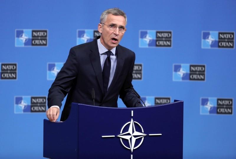 NATO Secretary General Jens Stoltenberg  gives a press conference on the eve of a NATO Defense Ministers Council meeting in Brussels, Belgium, 02 October 2018. (EPA Photo)