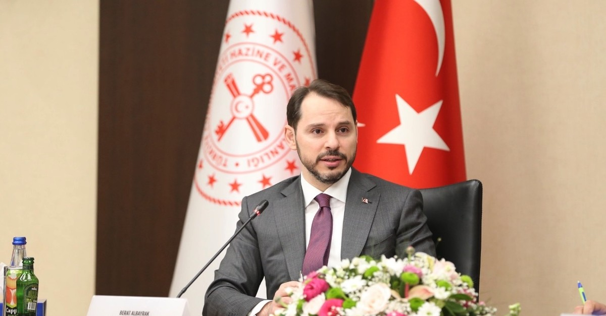 Treasury and Finance Minister Berat Albayrak held a meeting with banks, construction firms and bureaucrats on the Istanbul Finance Center (IFC), Ankara, April 26, 2019.