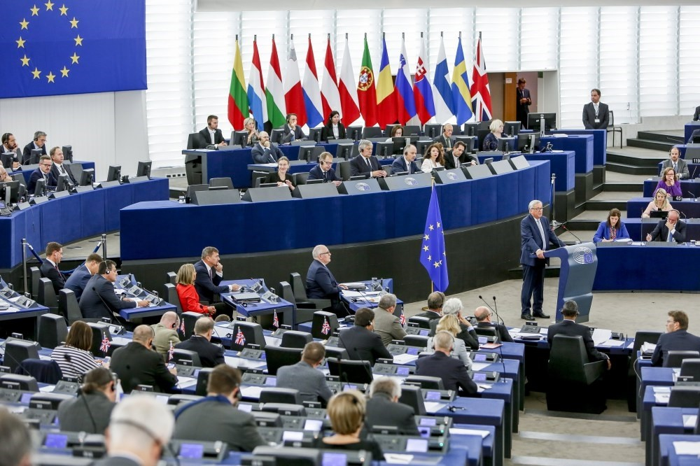 European Commission President Jean-Claude Juncker chairs a debate at the European Parliament in Strasbourg, France, Sept. 13.