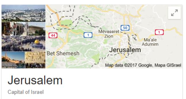 Google, Yandex show Jerusalem as Israel\'s capital after Trump\'s ...