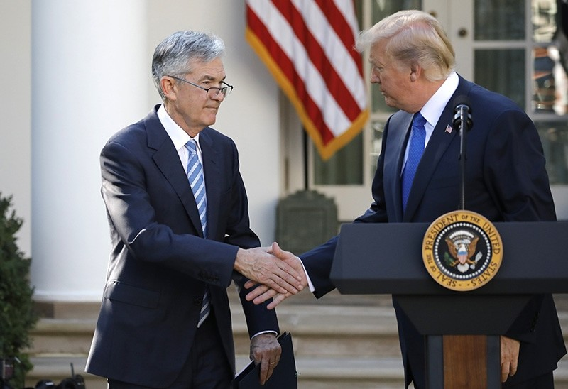 U.S. President Donald Trump shakes hands with Jerome Powell, his nominee to become chairman of the U.S. Federal Reserve at the White House in Washington, U.S., November 2, 2017. (Reuters Photo)