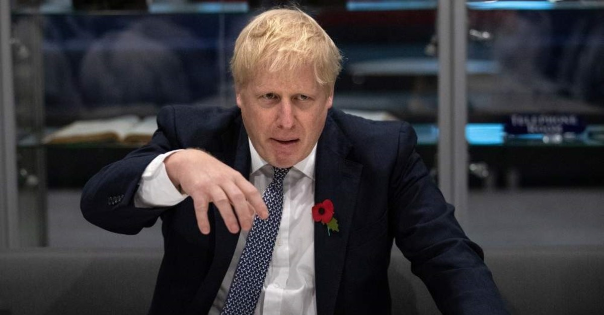Britain's Prime Minister Boris Johnson visits Metropolitan Police training college in Hendon, London, Britain October 31, 2019. Aaron Chown/Pool via REUTERS