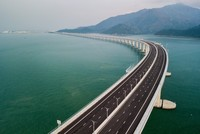 China opens 55-km bridge from Hong Kong to mainland