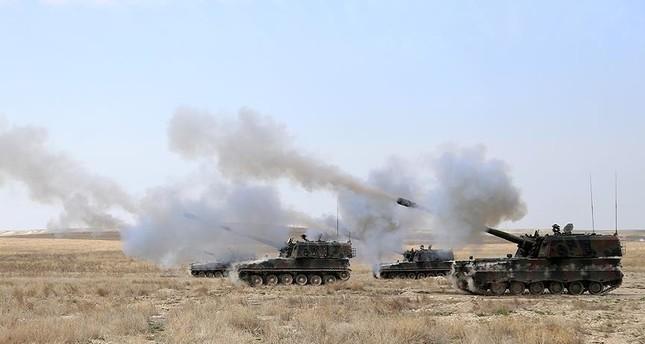 الجيش التركي يستهدف 93 موقعًا لداعش شمالي سوريا