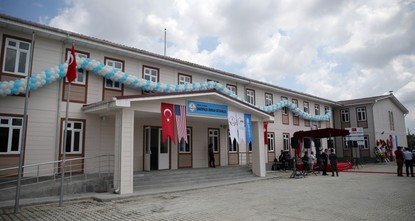 pTurkish and U.S. officials opened a school for 1,600 Syrians built by the United Nations Children's Fund (UNICEF) with funds from the United States./p  pThe U.S. ambassador to the United...