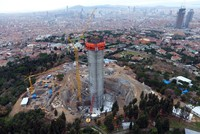 TV tower, Istanbul's new landmark, starts coming into view