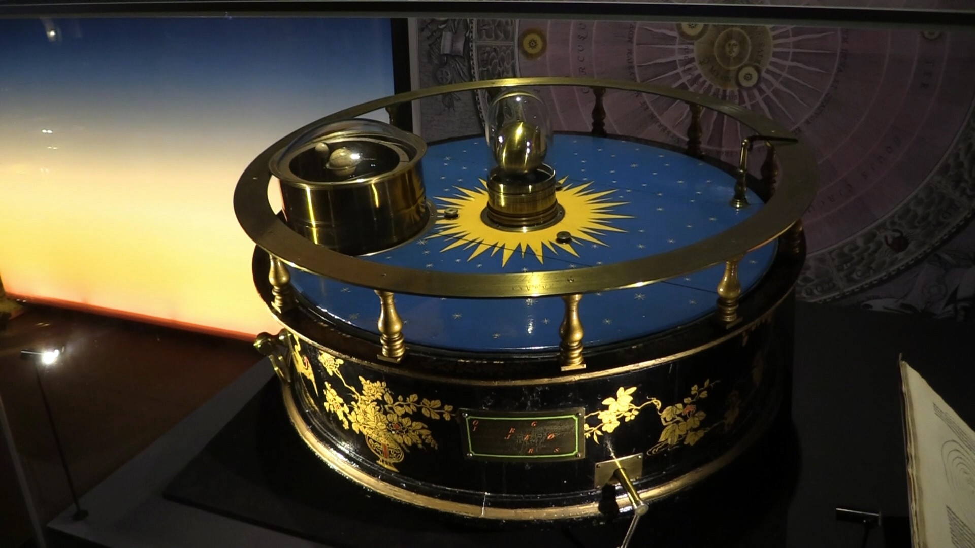 A model of the solar system produced by British device designer John Rowley in 1712.
