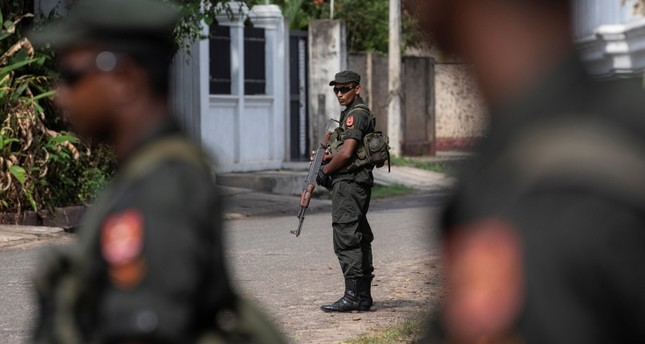 Soldiers stand guard outside St. Sebastian Church, days after a string of suicide bomb attacks across the island on Easter Sunday, in Negombo, Sri Lanka, May 1, 2019. Reuters Photo