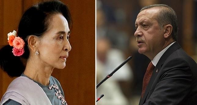 Erdoğan drängt Myanmars Aung San Suu Kyi zu Empfindlichkeit auf Rohingya-Zivilisten