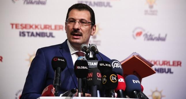 AK Party's Yavuz: Difference between Imamoğlu, Yıldırım fell to 19,000, more votes to come