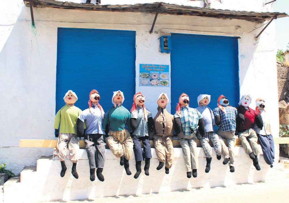Local people have prepared some 400 handmade scarecrows that will be displayed around the village after the festival.