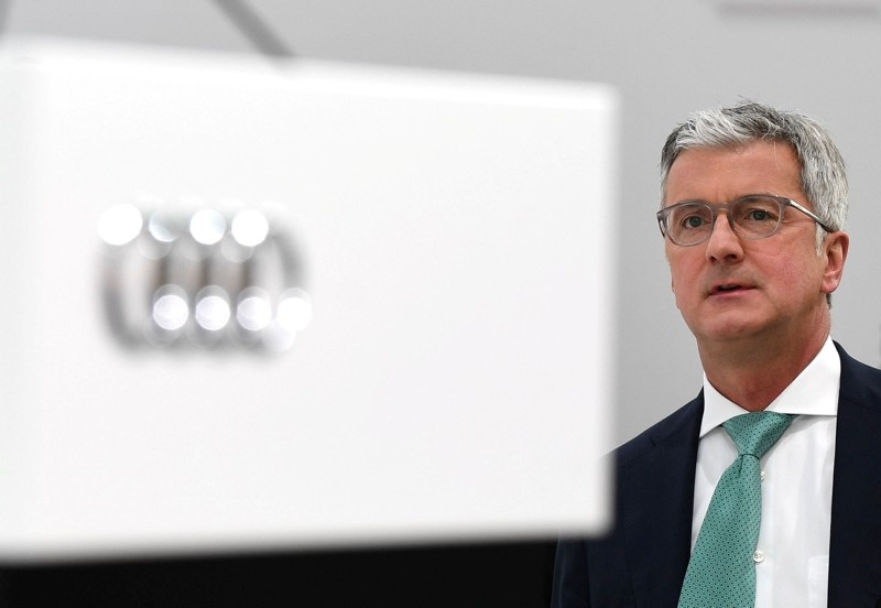 This May 09, 2018 file photo shows Rupert Stadler, CEO of German car maker Audi, waits prior to the Audi AG general meeting in Ingolstadt, southern Germany. (AFP Photo)