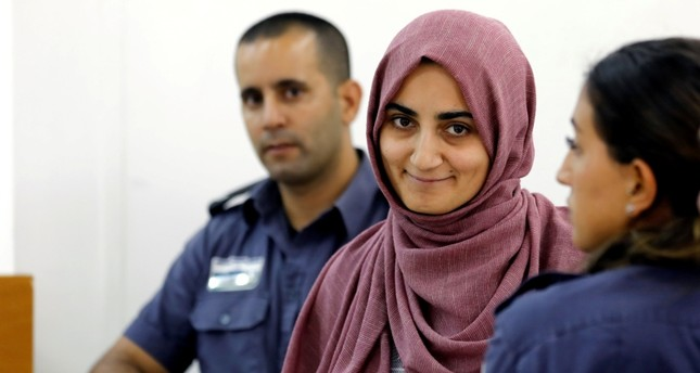 Turkish citizen, Ebru Özkan, who was arrested at an Israeli airport last month, being brought to an Israeli military court near Migdal, Israel July 8, 2018. (REUTERS Photo)