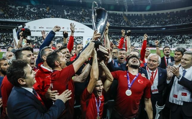 Turkey celebrates European amputee football title