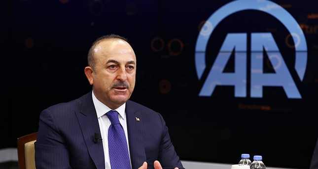 Foreign Minister Mevlüt Çavuşoğlu speaks at Anadolu Agency's Editor's Desk on Jan. 10, 2018 (AA Photo)