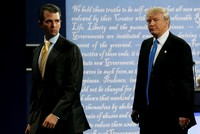 Trump applauds son's 'transparency' over Russian meddling case