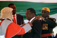 Emmerson Mnangagwa sworn in as president of Zimbabwe following disputed election