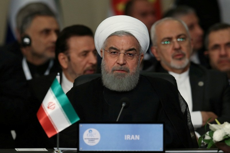 Iran's President Hassan Rouhani attends an extraordinary meeting of the Organisation of Islamic Cooperation (OIC) in Istanbul, Turkey May 18, 2018. (REUTERS Photo)